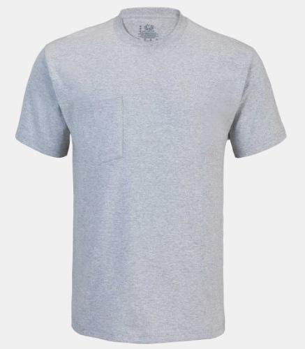 Dickies Men's Short Sleeve Pocket Tee, Ash Gray, Medium