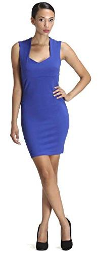 CARAPACE Womens Women's Sleeveless Dress with Back Cut Out