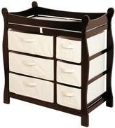Badger Basket Sleigh Changing Table with 6 Baskets -