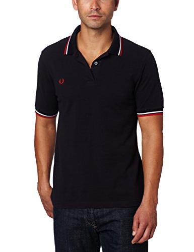 Fred Perry Men's Twin Tipped Polo Shirt-M3600, Black/
