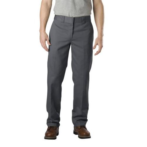 Dickies Men's Slim Straight Work Pants Chrcl Grey 30W x 34L