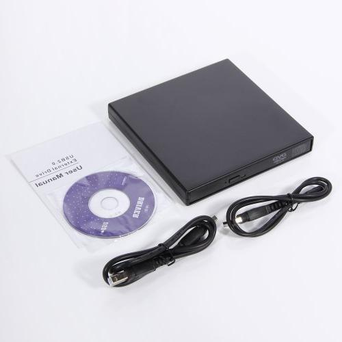 NEW Slim USB 2.0 External Slim USB 2.0 CD-ROM Drive for