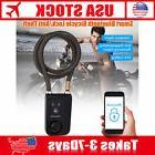 Smart Bike Cycle Bluetooth Lock Anti Theft Alarm Black For