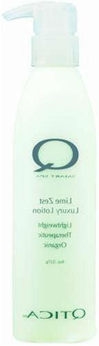 Qtica Smart Spa Luxury Lotion with Pump 8.5 oz, Lime Zest