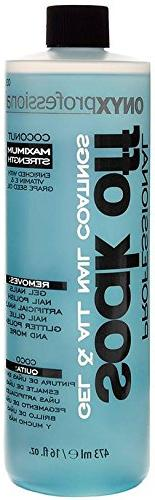 Onyx Professional Soak Off Shellac & Gel Nail Polish Remover