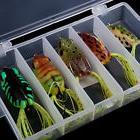 5pcs Soft Baits Frog Lure Bass Fishing Hooks Bait Tackle