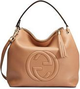 Gucci Soho Large Leather Hobo Bag, Camelia