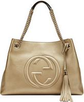 Gucci Soho Metallic Leather Tote Bag, Golden