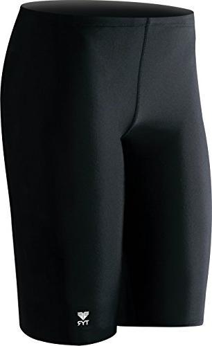 Sport Men's Solid Jammer Swim Suit,Navy,30