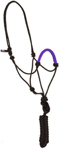 Mustang Solid Nose Rope Halter Tan