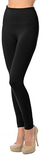 PLUS SIZE Solid High Waisted Fleece Leggings