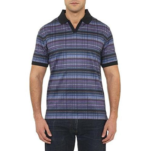 Robert Graham Mens South Pacific Striped Classic Fit Polo