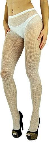 ToBeInStyle Women's Spandex Seamless Glittery Fishnet