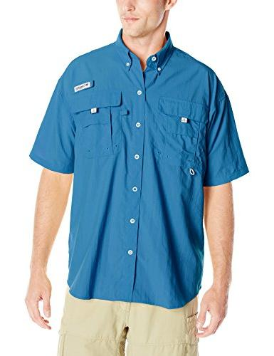 Columbia Bahama II Short Sleeve Shirt, Blue Heron, Large
