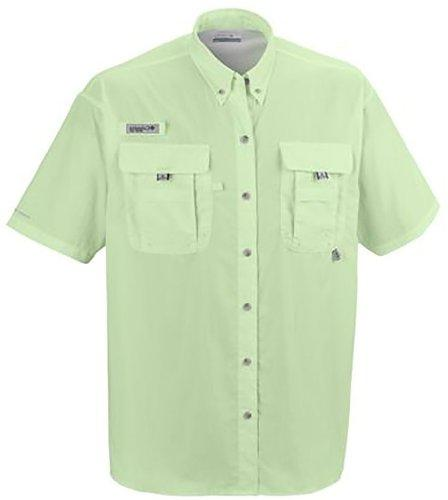 Columbia Men's Bahama II Short Sleeve Shirt, Bright Peach,
