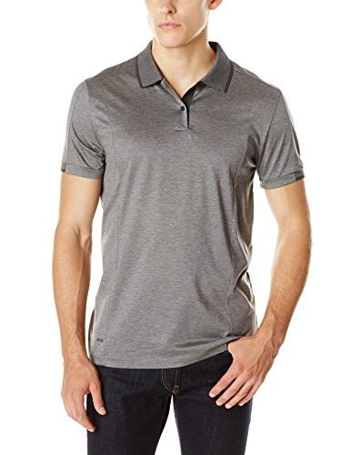 Calvin Klein Men's Tipped Double Mercerized Polo, Medium
