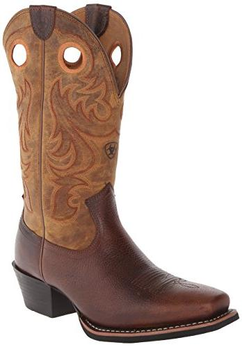 Ariat Men's Sport Square Toe Western Cowboy Boot, Fiddle