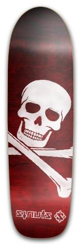 ZtuntZ Skateboards Square Tail Skull Skateboard Deck, Brown/