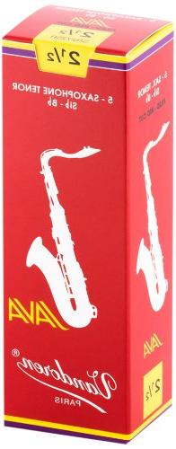 Vandoren SR2725R Tenor Sax JAVA Red Reeds Strength 2.5; Box