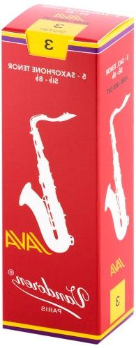 Vandoren SR273R Tenor Sax JAVA Red Reeds Strength 3; Box of