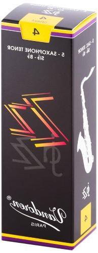 Vandoren SR424 Tenor Sax ZZ Reeds Strength 4; Box of 5