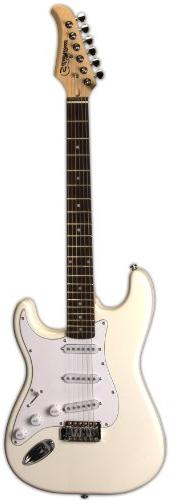 Silvertone SS15 WHT Solid-Body Electric Guitar, Gloss White