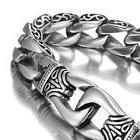 Men's 316L Stainless Steel Bracelet Dragon Curb Link Chain