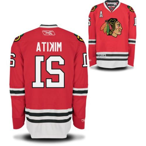 Stan Mikita Chicago Blackhawks Youth Red Home Premier Jersey