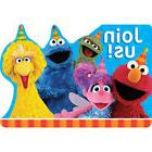 SESAME STREET Stars INVITATIONS  ~ Birthday Party Supplies