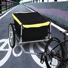 Steel Frame Bicycle Bike Cargo Trailer Luggage Cart Carrier
