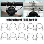 """10pcs 25.5"""" Stainless Steel Safety Security Cable Rope For"""
