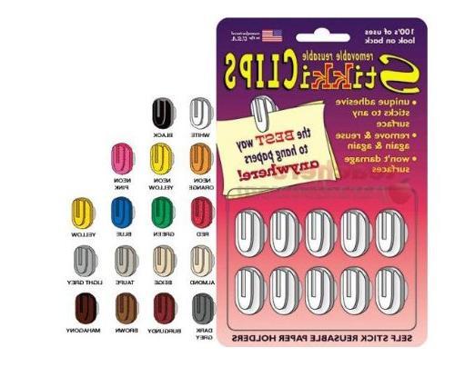 StikkiWorks 1337 Stikkiclips 20-Card - 3 Pack Black