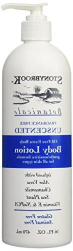 Stony Brook Body Lotion Unscented, 16 Fluid Ounce