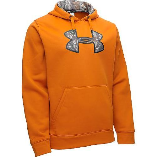 Under Armour Storm Caliber Hoodie Rodeo Orange Md 1264916-