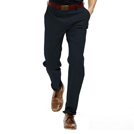 Haggar Straight-Fit Flat-Front Performance Cotton Slacks