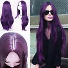 Womens Straight Long Wig Full Wig Cosplay Party Hair Black