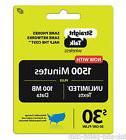 Straight Talk Refill Card 1500 Minutes Unlimited Text, 100MB