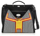 Fendi Straw Monster Man Peekaboo Bag