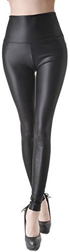Stretch Faux Active Tights Leggings For Women Girls Juniors