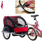 Strong Convertible Canopy 2 In 1 Child Pet Dog Bike Carrier Trailer Stroller