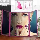 Stylish Portable Tri-Fold Make-up Mirror Adjustable Height/
