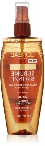 L'oreal Paris Sublime Bronze Clear Self-tanning Gel, 5.0