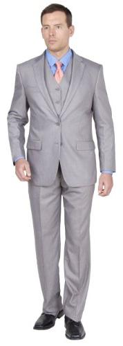 Giorgio Fiorelli Mens Suit 2 Button 3 Piece Modern Fit 46R