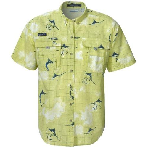 Columbia Men's Super Bahama Short Sleeve Shirt, Fossil Gingham, Medium