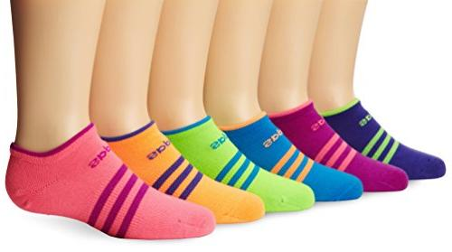Girls Superlite No Show Socks , Marl - Amazon Purple/Solar