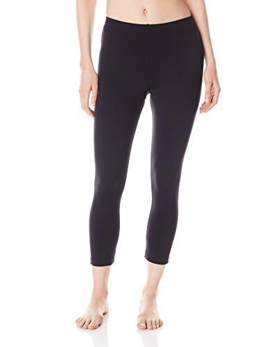 Danskin Women's Classic Supplex Body Fit Capri Legging,Black