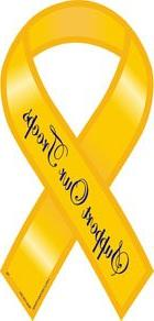 """Support Our Troops - 4"""" x 8"""" Yellow Ribbon Magnet"""