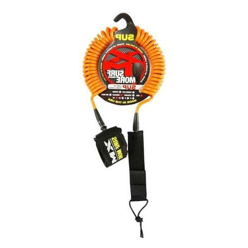 Surf More  SUP Coiled Leash - Choice of Color and Size