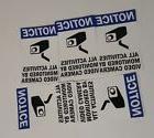 VIDEO SURVEILLANCE CCTV Security Decal  Warning Sticker set