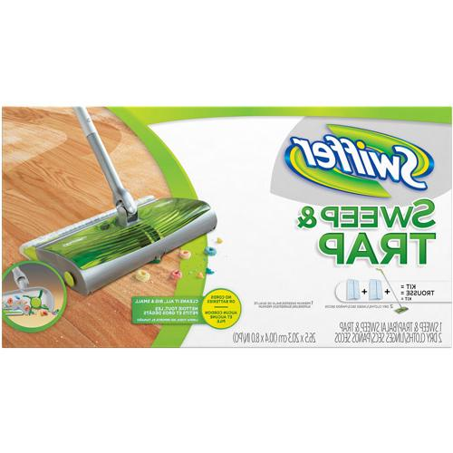 """Sweep & Trap System, 10"""" x 8"""" Head, 46"""" Handle, Green/Silver"""